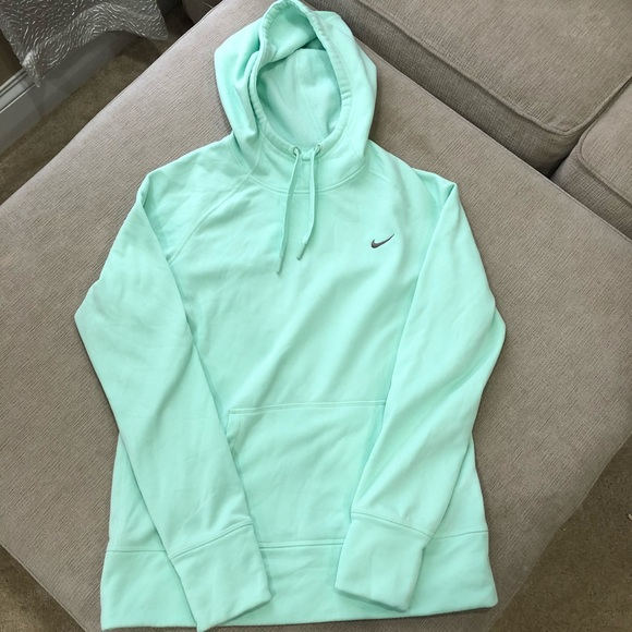 Nike mint green therma fit hoodie sweatshirt Guc